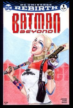 Harley Quinn sketch cover by whu-wei