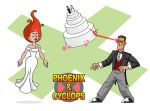 Superhero Wedding Images: Phoenix and Cyclops by Ollywood
