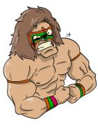 Ultimate Warrior by omegalbagel