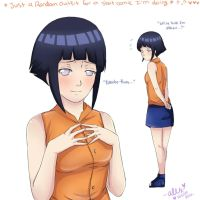 A friendly push-Hinata outfit sketch by shock777