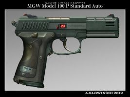 MGW Model 100 P Standard Auto Pistol by BlackDonner