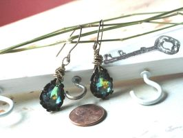 Glimpses of Sunlight in the Forest Earrings by artistiquejewelry