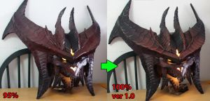 Diablo cosplay head - 100% completed by Clivelee