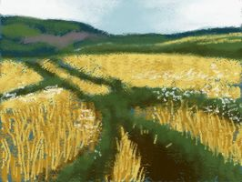 Barley Field by Nethilia