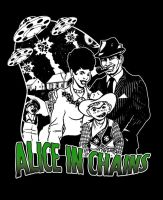 Alice in Chains 1950's UFO tee by yummytacoburp69