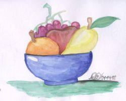 Watercolored Fruits by MikaraTakato