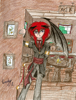 Hee, Concept art for an RP by IndagoFeather
