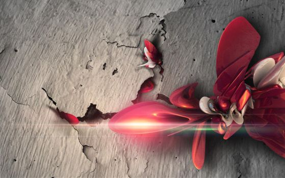 ABSTRACT 3D WALLPAPER - BEHIND THE WALL by m-deviant
