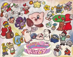 Happy 20th Anniversy Kirby by DeekirbyDeeL