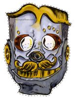 Steampunk Love bot Mask by mannycartoon