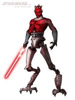 DRAW THE CLONE WARS DARTH MAUL by grantgoboom