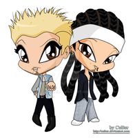 BTK Twins Tattoo ..chibi by CuBur