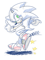 Sketchy Sonic by Feniiku