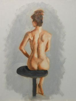 Oil Figure Study 1 by BloodyRose07