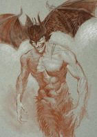 Devilman Illustration (unfinished fail) by ngreene