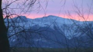 Mountain sunset in winter by The-Chronicler-Croi