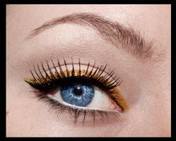 Black and gold retro style eyeliner by aurelia87