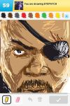 Nick Fury - Draw Something by pathetictroll