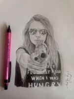 Cara Delevingne pencil portrait  by aadityasingh92