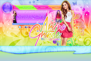 +ArianaGrande Website by OurLastParting