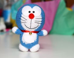 Doraemon Amigurumi crochet doll plush by BramaCrochet