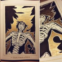 Ink/GrossTober 23: Electrocution by Rejuch