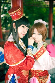 Dynasty Warriors cos: Qiao Sisters by Ceraphic