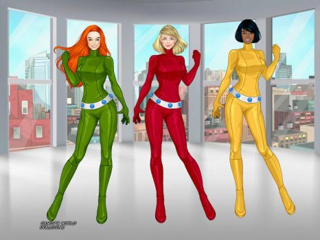 Totally Spies Sam,Clover and Alex by wolfspygirl