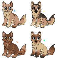 Tanny Puppies Adoptables - 2 OPEN by PoonieFox