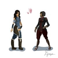 Korrasami clothes change by Kiyouya