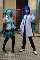 Kaito and Miku by LollipopBunnie