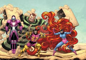 The Frightful Four by bennyfuentes