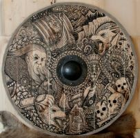 Viking Shield Odin by ZawArt