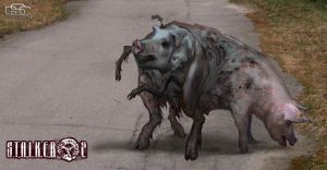 S.T.A.L.K.E.R. 2 Mutant pig by hamburgercranium