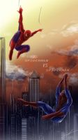 Tobey's Spiderman VS Andrew's Spiderman by 5aXoR