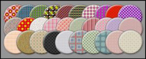 Patterned Buttons set II by noema-13