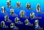 Medieval Helms 3.1 -Color by monchiken