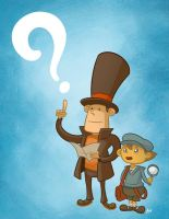 Profesor Layton and Luke by mapacheanepicstory