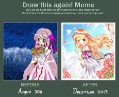 .:Before and After Meme:. ~Floriane~ by Marcherin