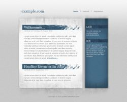 Simple Grunge Blog Design by LaChRiZ
