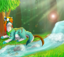A day in the forest  by Inspire-Wolf