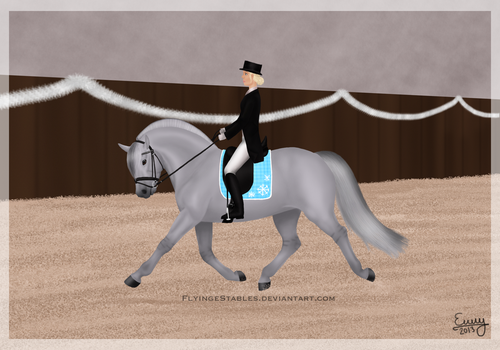 Iron Man's first dressage show by FamousFox