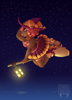 Cute Witch by SabreBash