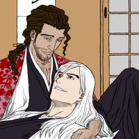 Kyoraku and Ukitake - COLOR by TenTenXKankurou
