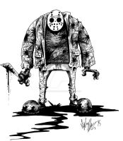 Jason Vorhees - Inktober by OuthouseCartoons