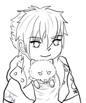Chibi Aoba Lineart Version 2 by HezaHentai
