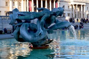 Mutant Dolphin Stranglers Outside National Gallery by aegiandyad