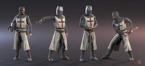 3D character model - knight templar by MacX85