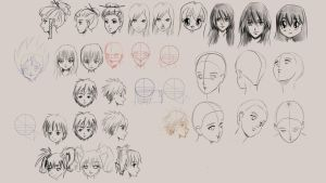 How to draw manga faces and hair by discipleneil777