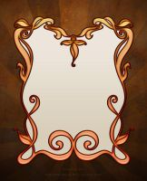 Art Nouveau Border Colored - Premium Content by DreamWarrior